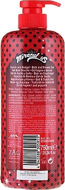 Kinder Dusch- und Badegel Miraculous mit Himbeere - The Beauty Care Company Miraculous Bath & Shower Gel — Bild N2