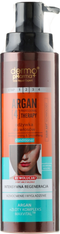 Haarspülung - Dermo Pharma Argan Professional 4 Therapy Strengthening & Smoothing Conditioner