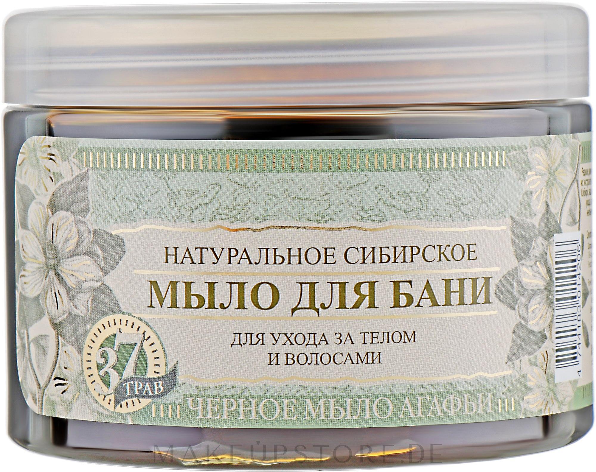 Schwarze sibirische Naturseife - Rezepte der Oma Agafja — Bild 500 ml