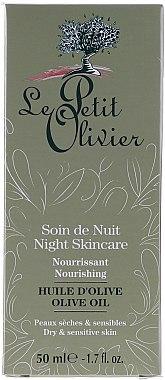 Pflegende Nachtcreme mit Olivenöl, Aloe Vera und Vitamin E - Le Petit Olivier Face Cares With Olive Oil — Bild N4