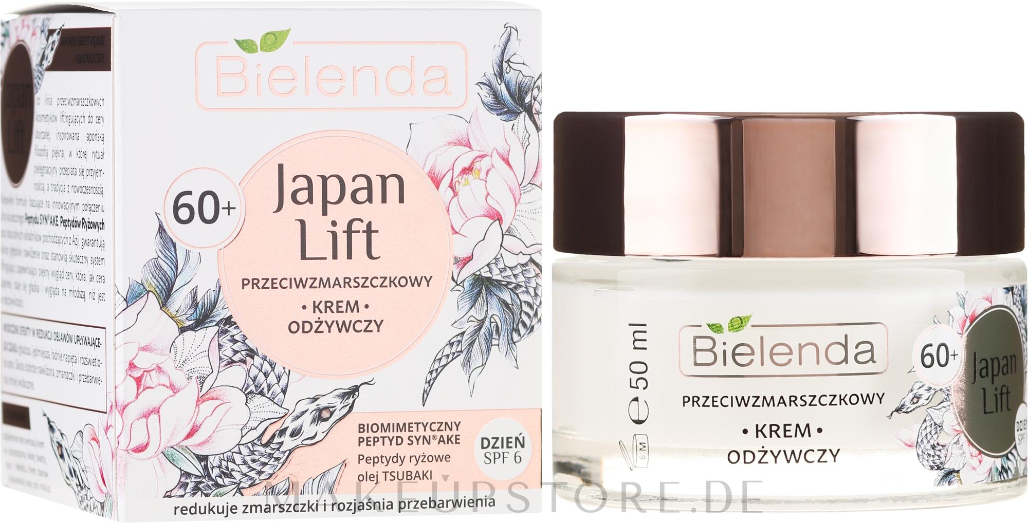 Reichhaltige Anti-Falten Tagescreme 60+ - Bielenda Japan Lift Day Cream 60+ SPF6 — Bild 50 ml