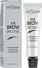 Düfte, Parfümerie und Kosmetik Aufhellendes Augenbrauengel - LeviSsime Eye Brow Decogel