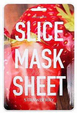 Revitalisierende Tuchmaske mit Erdbeerextrakt - Kocostar Slice Mask Sheet Strawberry — Bild N1