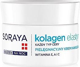 Düfte, Parfümerie und Kosmetik Feuchtigkeitsspenende Pflegecreme mit Kollagen und Elastin - Soraya Kolagen i Elastyna Moisturizing Cream