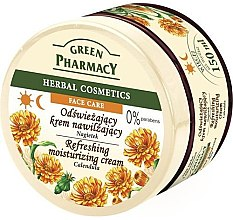 Düfte, Parfümerie und Kosmetik Erfrischende und feuchtigkeitsspendende Gesichtscreme mit Ringelblume - Green Pharmacy Refreshing And Moisturizing Cream