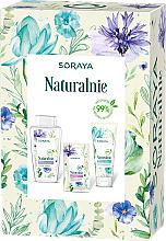 Düfte, Parfümerie und Kosmetik Gesichtspflegeset - Soraya Naturally (Mizellenwasser 400ml + Gesichtsgel 150ml + Gesichtsmaske 17ml)
