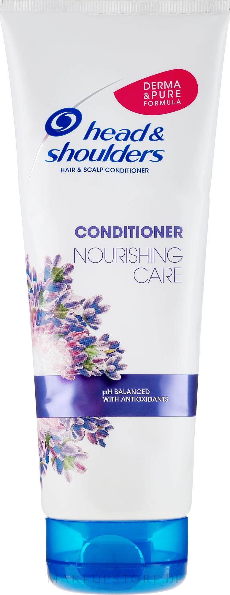 Pflegender Conditioner für Haar und Kopfhaut mit Lavendel-Essenz - Head & Shoulders Conditioner Nourishing Care — Bild 220 ml