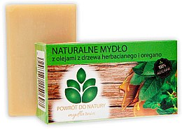 Düfte, Parfümerie und Kosmetik Naturseife mit Oregano- und Teebaumöl - Powrot Do Natury