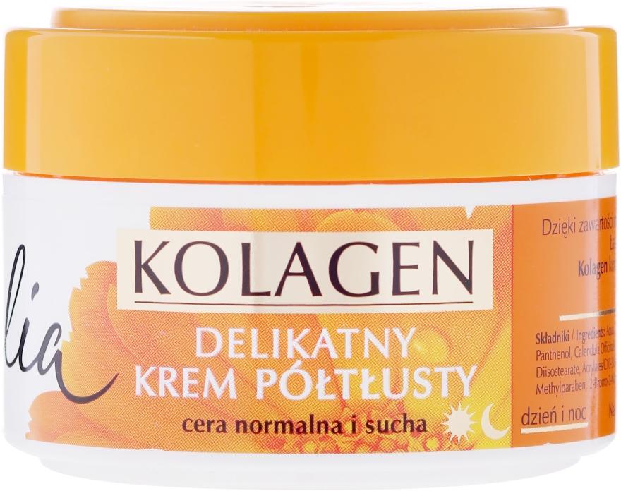Halbfettige Gesichtscreme mit Ringelblume und Kollagen - Celia Collagen Soft Semi-Rich Face Cream — Bild N1