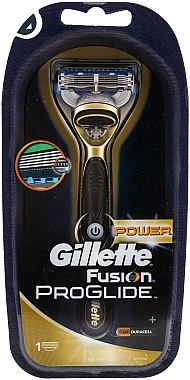 Gillette Fusion Power Rasierer mit 1 Ersatzklinge - Gillette Fusion ProGlide Power Gold — Bild N1