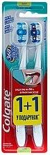 Düfte, Parfümerie und Kosmetik Zahnbürste mittel 360 Whole Mouth Clean blau, lila 2 St. - Colgate