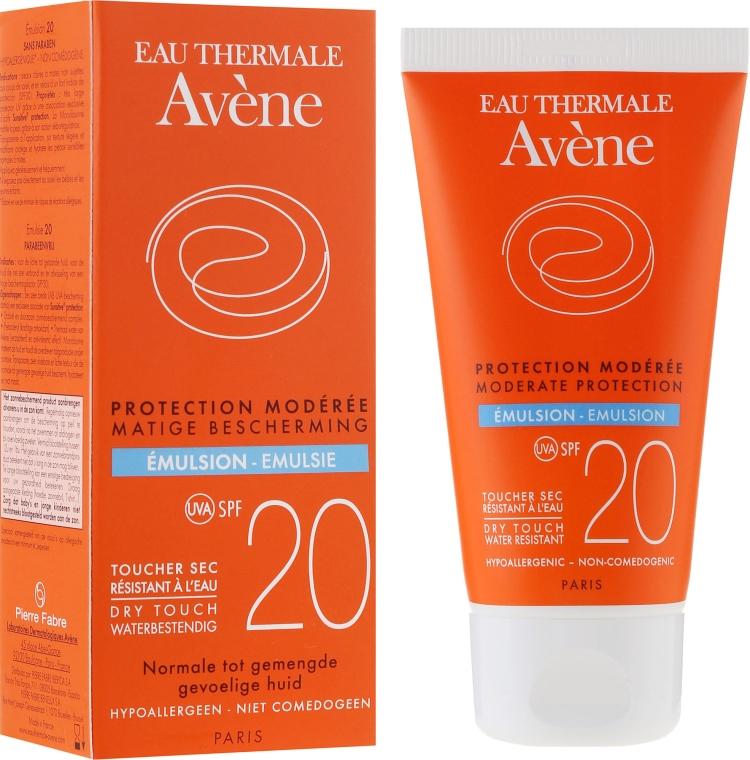 Sonnenschutzemulsion für empfindliche, normale und gemischte Gesichtshaut SPF 20 - Avene Solaires Moderate Protection Emulsion SPF 20 — Bild N1