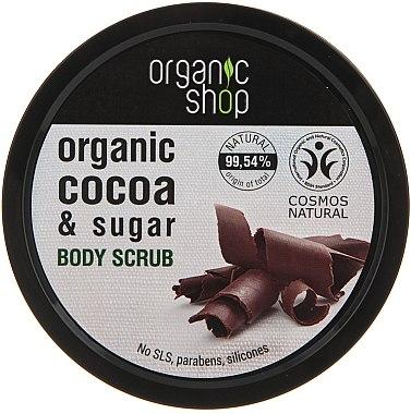 Körperpeeling mit Bio Kakaobutter und braunem Zucker - Organic Shop Body Scrub Organic Cocoa & Sugar
