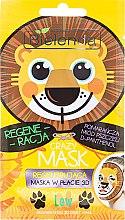 Düfte, Parfümerie und Kosmetik Regenerierende 3D Tuchmaske mit D-Panthenol - Bielenda Crazy Mask 3D Lion
