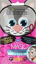 Düfte, Parfümerie und Kosmetik Reinigende 3D-Tuchmaske mit Korallenalgen, Vitamin C und Kirschextrakt - Bielenda Crazy Mask 3D Cat
