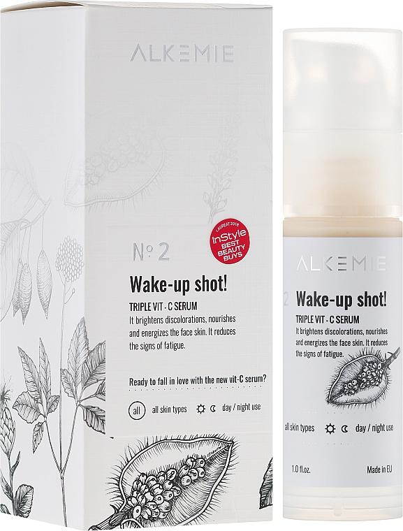 Pflegendes Gesichtsserum mit Vitamin C - Alkemie Wake-up shot Triple Vit-C Serum