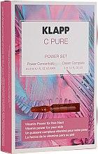 Düfte, Parfümerie und Kosmetik Gesichtspflegeset - Klapp C Pure Power Set (Gesichtskonzentrat 3x2ml + Gesichtscreme 3ml)