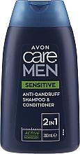 Düfte, Parfümerie und Kosmetik 2in1 Anti-Schuppen Shampoo und Haarspülung für empfindliche Kopfhaut - Avon Care Men Sensitive 2-in-1 Anti Dandruff Shampoo & Conditioner