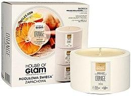 Düfte, Parfümerie und Kosmetik Soja-Duftkerze Orange Spieces - House of Glam Raw White Collection Orange Spieces Candle