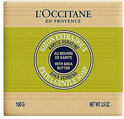 Pflegende Seife mit Sheabutter und Eisenkraut - L'occitane Shea Butter Extra Gentle Soap Verbena — Bild N1