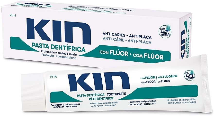 Anti-Karies Zahnpasta mit Aloe Vera - Kin Aloe Vera Toothpaste