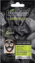 Düfte, Parfümerie und Kosmetik Erfrischende Detox Gesichtsmaske mit Aktivkohle und grünem Ton - Bielenda Carbo Detox Cleansing Mask Mixed and Oily Skin