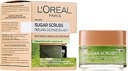 Düfte, Parfümerie und Kosmetik Zuckerpeeling mit natürlichem Traubenkern-Öl für Gesicht - L'Oreal Paris Sugar Scrubs