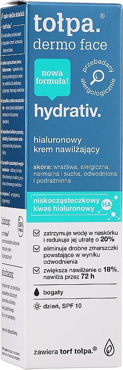 Feuchtigkeitsspendende Gesichtscreme LSF 10 - Tolpa Dermo Face Hydrativ SPF 10 — Bild N2