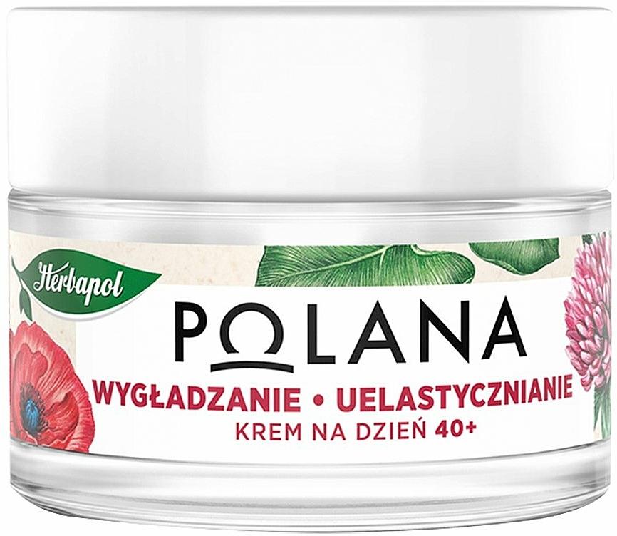 Glättende Anti-Aging Tagescreme mit Schlafmohn, Stevia und Holunder 40+ - Polana — Bild N1