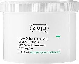 Düfte, Parfümerie und Kosmetik Feuchtigkeitsspendende Gesichtsmaske mit Grünalgen und Aloeextrakt für trockene und normale Haut - Ziaja Pro Algae Mask