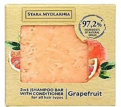Düfte, Parfümerie und Kosmetik 2in1 Festes Shampoo und Haarspülung mit Grapefruitduft - Stara Mydlarnia Grapefruit 2in1 Shampoo Bar