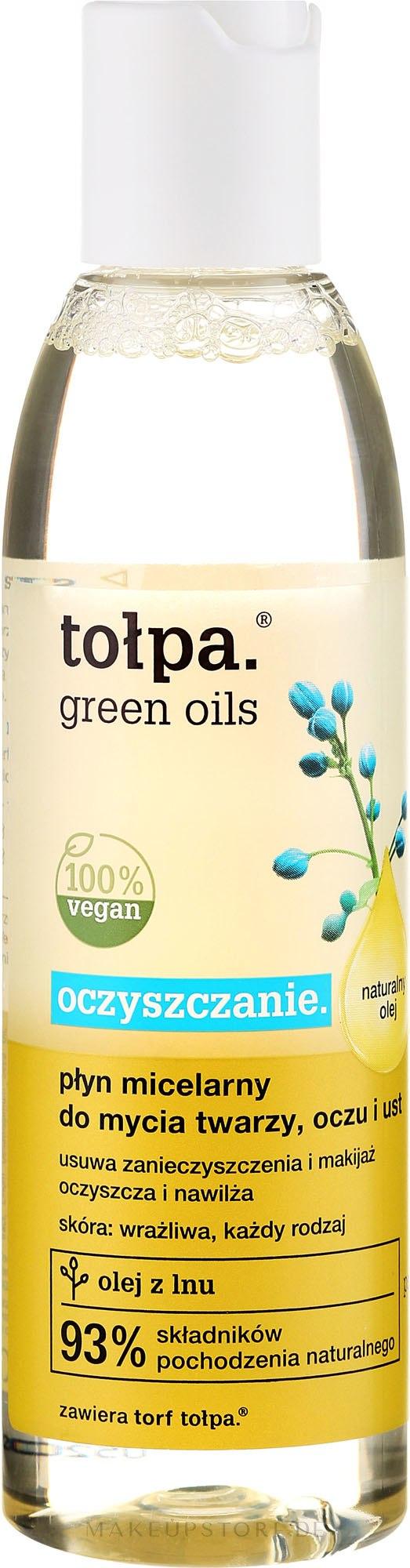 Mizellenwasser mit Leinöl - Tolpa Green Oils Micellar Water — Bild 200 ml