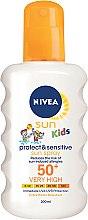 Düfte, Parfümerie und Kosmetik Sonnenschutzspray für Kinder SPF 50+ - Nivea Sun Kids Protect & Sensitive Spray SPF50+