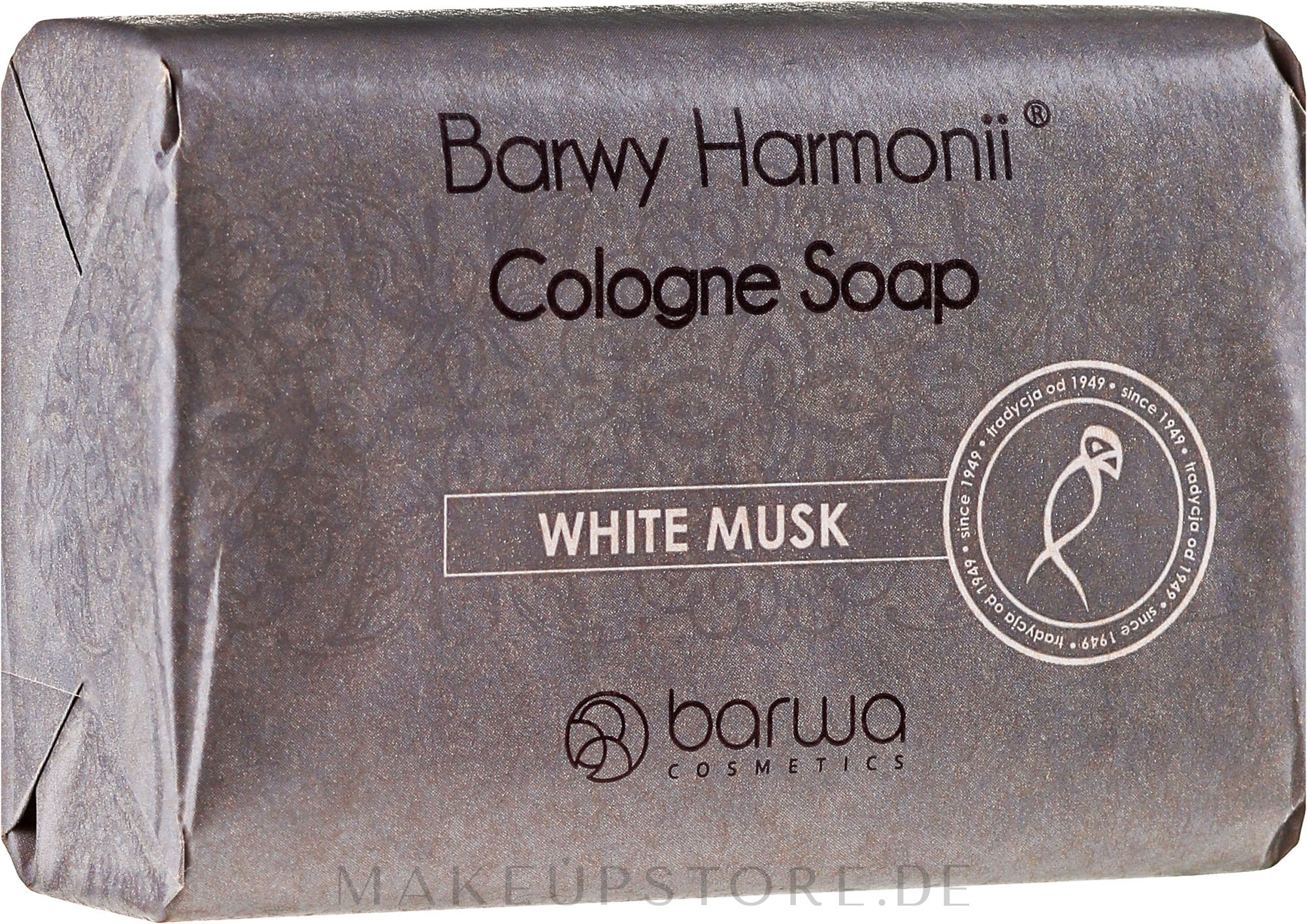 Feinseife mit ätherischem Moschusöl für glättende Haut - Barwa Harmony White Musk Soap — Bild 190 g