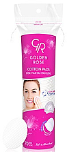 Düfte, Parfümerie und Kosmetik Kosmetische Wattepads - Golden Rose Cotton Pads for Makeup Removal
