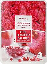 Düfte, Parfümerie und Kosmetik Verjüngende und energetisierende Tuchmaske mit Granatapfel- und Rosenblütenextrakt - Deoproce Color Synergy Effect Sheet Mask Red