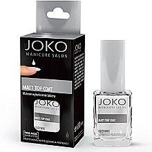 Düfte, Parfümerie und Kosmetik Mattierender Nagelüberlack - Joko Manicure Salon Matt Top Coat