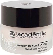 Düfte, Parfümerie und Kosmetik Regenerierende Nachtcreme mit Rosenextrakt - Academie Night Infusion Rose Cream