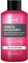 Düfte, Parfümerie und Kosmetik Erfrischende und feuchtigkeitsspendende Körperlotion mit englischer Rose - Kundal Honey & Macadamia Body Lotion English Rose