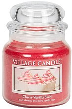 Duftkerze Cherry Vanilla Swirl - Village Candle Cherry Vanilla Swirl Glass Jar — Bild N3
