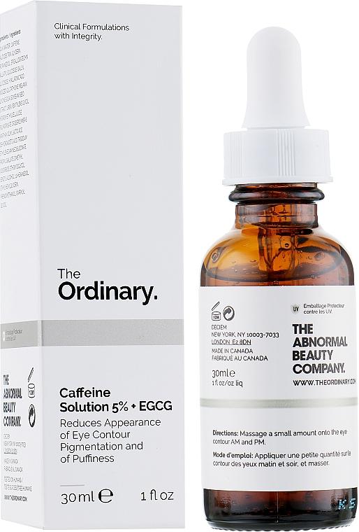 Hochkonzentriertes aufhellendes und entzündungshemmendes Augenkonturserum gegen Schwellungen und dunkle Augenringe mit 5 % Koffein und EGCG - The Ordinary Caffeine Solution 5% + EGCG