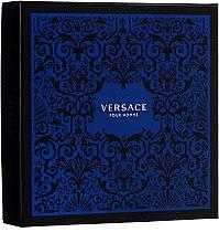 Düfte, Parfümerie und Kosmetik Versace Pour Homme - Duftset (Eau de Toilette 100ml + Haar- Körpershampoo 150ml)