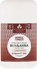Düfte, Parfümerie und Kosmetik Natürlicher Soda Deostick Nordic Timber - Ben & Anna Natural Soda Deodorant Nordic Timber