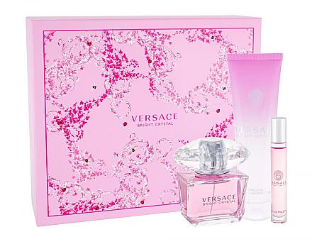 Versace Bright Crystal - Duftset (Eau de Toilette 90ml + Duschgel 150ml + Eau de Toilette 10ml) — Bild N1