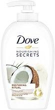 """Düfte, Parfümerie und Kosmetik Flüssige Handseife """"Kokosöl und Mandelmilch"""" - Dove Nourishing Secrets Restoring Ritual Hand Wash"""