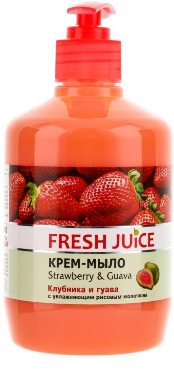Cremeseife mit feuchtigkeitsspendender Reismilch, Erdbeere und Guave - Fresh Juice Strawberry&Guava — Bild N1