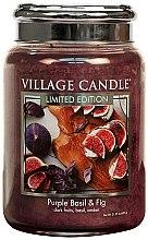 Düfte, Parfümerie und Kosmetik Duftkerze Purple Basil & Fig - Village Candle Purple Basil & Fig Glass Jar
