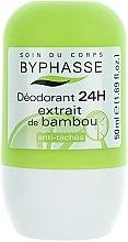 Düfte, Parfümerie und Kosmetik Deo Roll-on mit Bambusextrakt - Byphasse 24h Deodorant Bamboo Extract
