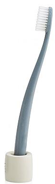 Zahnbürste mit Ständer weich grau - The Natural Family Co Bio Brush & Stand Monsoon Mist — Bild N3