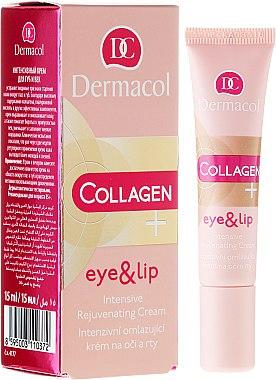 Intensiv verjüngende Augen- und Lippenkonturcreme - Dermacol Collagen+ Eye & Lip Cream — Bild N1